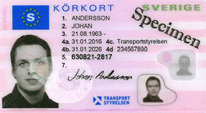körkort exempel